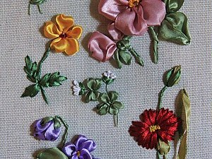 Вышивка лентами. 9 цветов. | Ярмарка Мастеров - ручная работа, handmade