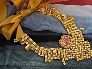 Монастырское плетение бисером. Ярмарка Мастеров - ручная работа, handmade.