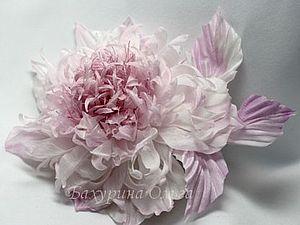 Цветы из ткани мастер класс обучение