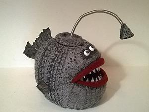Мастерим «Чудо-юдо» рыбу-светильник из фетра. Ярмарка Мастеров - ручная работа, handmade.