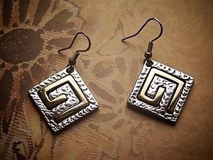 Серебряные серьги с позолотой розыгрыш   Ярмарка Мастеров - ручная работа, handmade