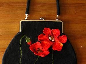 Приглашаю на мастер-класс по валянию сумок-ридикюлей (Шерстяная акварель - объёмные цветы) | Ярмарка Мастеров - ручная работа, handmade