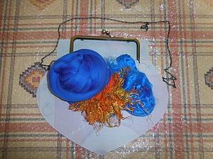 И синяя сумочка.. Отчет с мк Кати Ветровой)) | Ярмарка Мастеров - ручная работа, handmade
