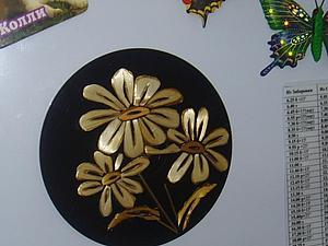 Делаем магнитное панно из компакт-диска и соломенной ленты. Ярмарка Мастеров - ручная работа, handmade.
