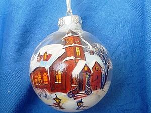 Новогоднии шары | Ярмарка Мастеров - ручная работа, handmade