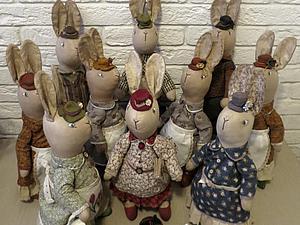 Кролики в стиле кантри | Ярмарка Мастеров - ручная работа, handmade