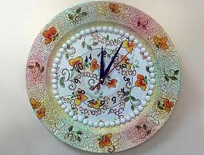 Мастер-класс в технике декупаж: «Часы из старой тарелки». Ярмарка Мастеров - ручная работа, handmade.