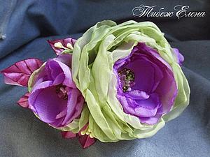 Благотворительный мастер-класс цветы из шифона. | Ярмарка Мастеров - ручная работа, handmade