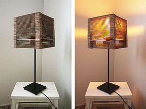 Светильник из картона | Ярмарка Мастеров - ручная работа, handmade