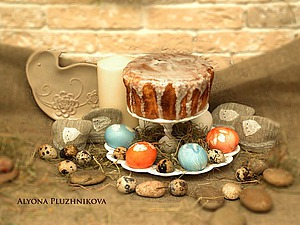 Декорируем подставку для кулича и яиц. Ярмарка Мастеров - ручная работа, handmade.