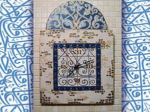 "Часы ""Голубой Тунис"". Ярмарка Мастеров - ручная работа, handmade."