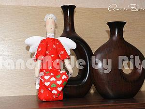 Рождественский ангел Вася | Ярмарка Мастеров - ручная работа, handmade