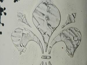 Декор чайного домика, работа с трафаретами и текстурной пастой. | Ярмарка Мастеров - ручная работа, handmade
