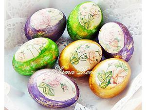 Пасхальный декупаж: украшаем яйца с помощью фольги, красителя и салфеток. Ярмарка Мастеров - ручная работа, handmade.