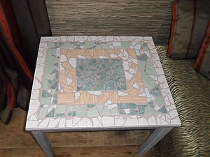 Мозаичный столик: превращение старого стола в красивый предмет интерьера. Ярмарка Мастеров - ручная работа, handmade.