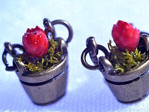 Создаем серьги с сухоцветами  «Ведёрко» | Ярмарка Мастеров - ручная работа, handmade