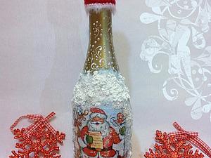 """новогоднее шампанское """"песни деда Мороза"""". Ярмарка Мастеров - ручная работа, handmade."""