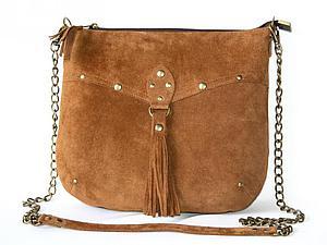 замшевая сумочка с кисточкой. | Ярмарка Мастеров - ручная работа, handmade