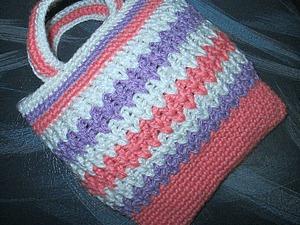 Вяжем крючком сумочку для дочки. Ярмарка Мастеров - ручная работа, handmade.