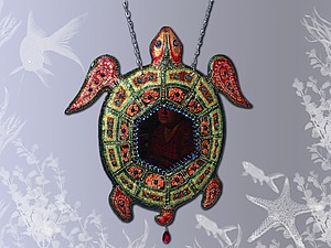 Зеркало-черепаха из солёного теста. Ярмарка Мастеров - ручная работа, handmade.