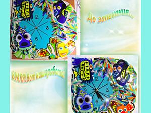 Процесс изготовления детских часов «В поисках Немо» в технике фьюзинг. Ярмарка Мастеров - ручная работа, handmade.