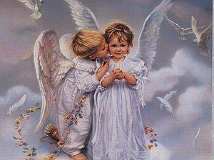 Милые и нежные ангелочки художницы SandraKuck | Ярмарка Мастеров - ручная работа, handmade