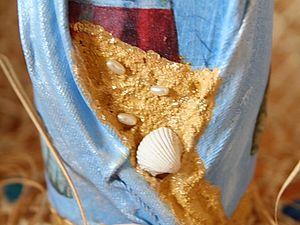 Декупаж бутылки «Старый маяк». Ярмарка Мастеров - ручная работа, handmade.