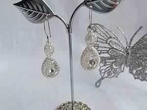 Мастер-класс: создаем свадебные серьги из бисера и кристаллов Swarovski. Ярмарка Мастеров - ручная работа, handmade.