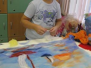 Фото отчет .Рисуем море. (мокрое валяние) | Ярмарка Мастеров - ручная работа, handmade