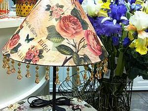 Декор абажура рисовой бумагой | Ярмарка Мастеров - ручная работа, handmade