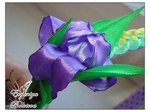 Цветок ириса из лент | Ярмарка Мастеров - ручная работа, handmade