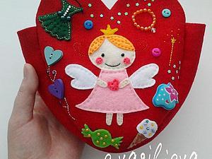 Шьём фетровую сумочку для маленькой принцессы. Ярмарка Мастеров - ручная работа, handmade.
