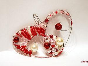 Бисерное сердечко своими руками. Ярмарка Мастеров - ручная работа, handmade.