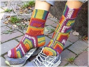 МК по вязанию оригинальных носочков | Ярмарка Мастеров - ручная работа, handmade