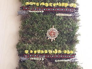 Интерьерный коврик  с вербой, мхом и лавандой   Ярмарка Мастеров - ручная работа, handmade