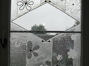 Искажение реальности. Декор вертикальной стеклянной поверхности. | Ярмарка Мастеров - ручная работа, handmade