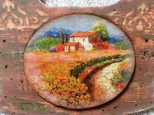 Новинка! Вешалка с Медальоном «Под Солнцем Тосканы» | Ярмарка Мастеров - ручная работа, handmade