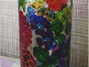 Расписываем бутылку для вина. Ярмарка Мастеров - ручная работа, handmade.