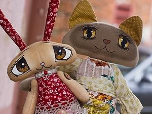 Мастер-класс   Текстильная кошка с расписными глазами. | Ярмарка Мастеров - ручная работа, handmade