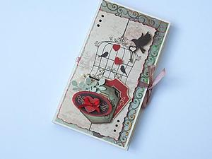 Шоколадница с открыткой