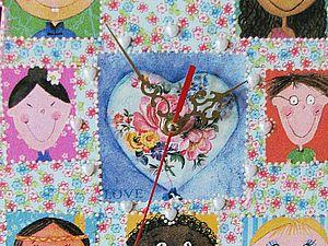 Мастер-класс по изготовлению декоративных часов «ДЕТСКОЕ ВРЕМЯ». Ярмарка Мастеров - ручная работа, handmade.