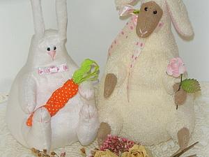 МК по пошиву Пасхальной овечки и Кролика. Ярмарка Мастеров - ручная работа, handmade.