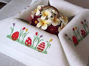 Роспись пасхальной салфетки | Ярмарка Мастеров - ручная работа, handmade
