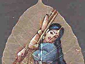 Древнее искусство росписи на скелетированных листьях. Ярмарка Мастеров - ручная работа, handmade.