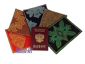 Точечная роспись Point-to-point - Обложка на паспорт   Ярмарка Мастеров - ручная работа, handmade