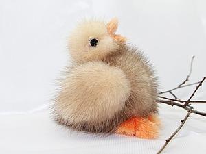 Шьем пасхального цыпленка из натурального меха. Ярмарка Мастеров - ручная работа, handmade.