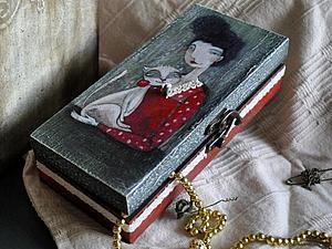 Мастер-класс: шкатулка по мотивам картины Маркиз и Люси. Ярмарка Мастеров - ручная работа, handmade.