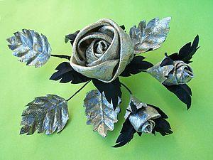 Как изготовить мягкую розу-цветок из ткани без профессионального оборудования. Ярмарка Мастеров - ручная работа, handmade.