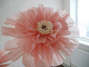 Создаем цветок из бумаги тишью. Ярмарка Мастеров - ручная работа, handmade.