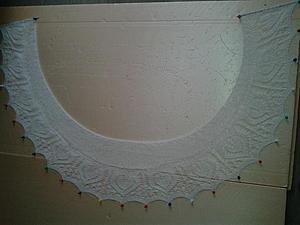 Ещё раз о блокировке ажурных шалей. | Ярмарка Мастеров - ручная работа, handmade